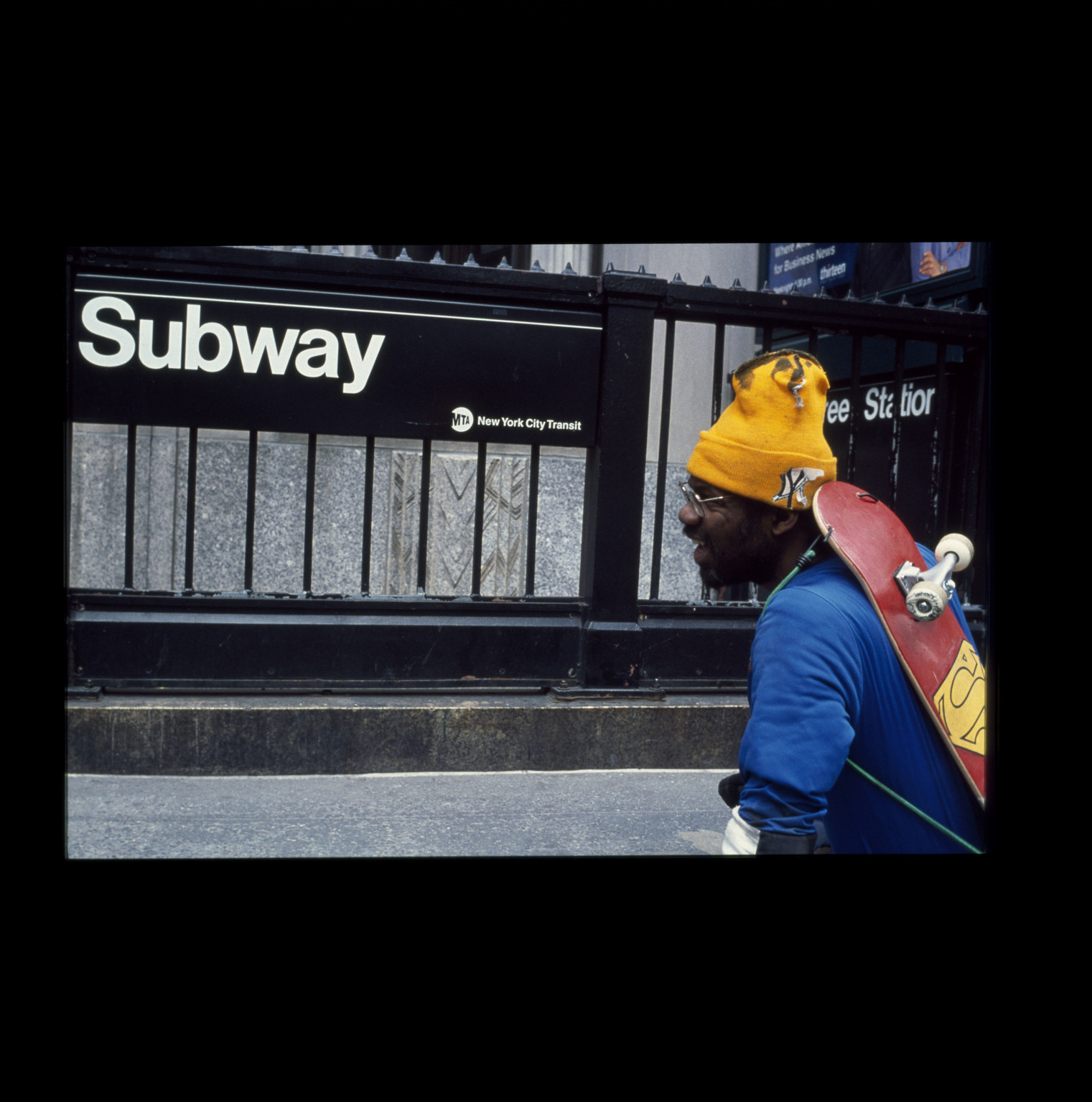 "Pope.L (American, born 1955). The Great White Way: 22 miles, 9 years, 1 street, Broadway, New York. 2001-09. Inkjet print, 10 × 15"" (25.4 × 38.1 cm). The Museum of Modern Art, New York. Acquired in part through the generosity of Jill and Peter Kraus, Anne and Joel S. Ehrenkranz, The Contemporary Arts Council of The Museum of Modern Art, The Jill and Peter Kraus Media and Performance Acquisition Fund, and Jill and Peter Kraus in honor of Michael Lynne. © Pope.L, courtesy the artist"