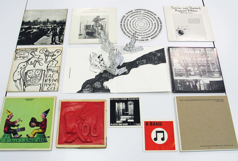Committee on Prints and Illustrated Books Fund. <em>Steven Leiber Audio Collection</em>. 1959–2010. Collection of over 300 audio works by more than 150 artists, including 237 vinyl LP records and 76 cassette tapes and CDs