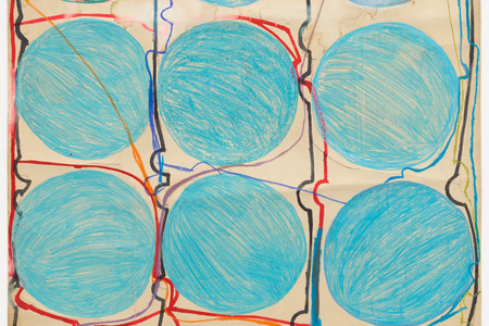 Atsuko Tanaka. <em>Untitled</em>. 1956. Crayon, watercolor, and felt-tip pen on paper, 42 7/8 × 30 3/8&quot; (108.9 × 77.2 cm). Purchased with funds provided by the Edward John Noble Foundation, Frances Keech Fund, and Committee on Drawings Funds. © 2019 Ryoji Ito