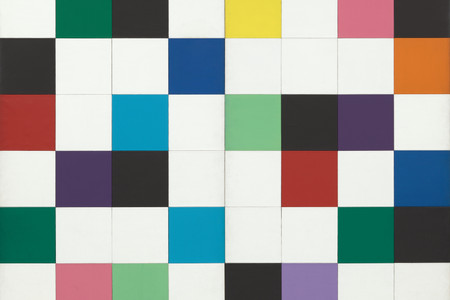 Ellsworth Kelly. <em>Colors for a Large Wall</em>. 1951. Oil on canvas, sixty-four panels. 7' 10 1/2&quot; x 7' 10 1/2&quot; (240 x 240 cm). Gift of the artist. © 2018 Ellsworth Kelly
