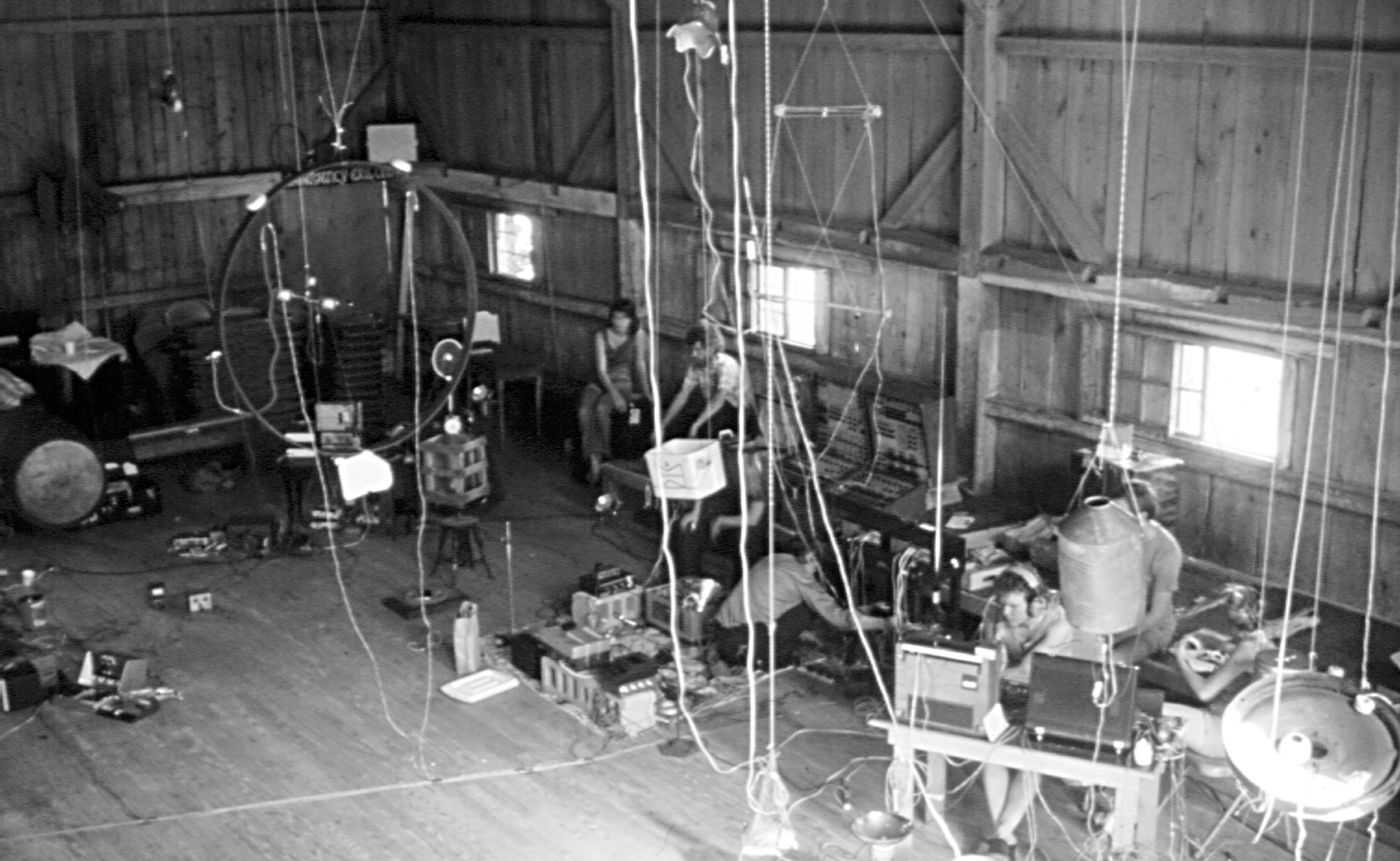 Preparation for Rainforest IV at New Music in New Hampshire, July 1973