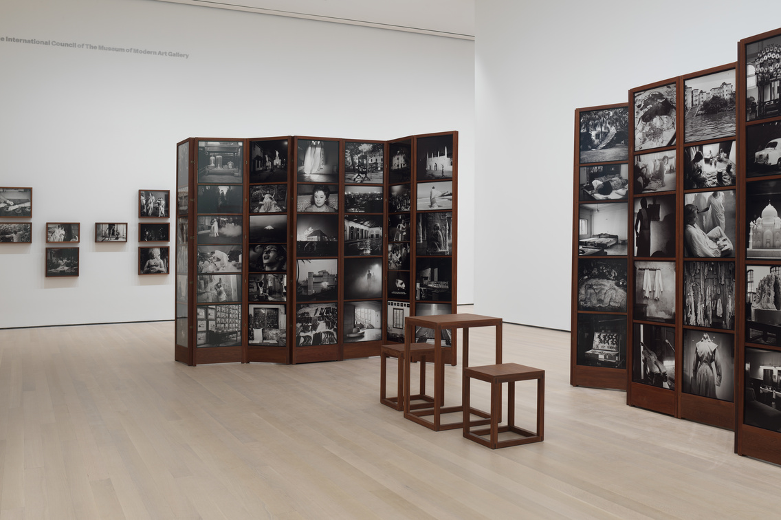 Dayanita Singh. Museum of Chance. 2013. 162 pigmented inkjet prints and teak structures. Acquired with support from The Contemporary Arts Council of The Museum of Modern Art, The Modern Women's Fund, and Committee on Photography Fund. The Museum of Modern Art, New York. © 2019 Dayanita Singh. Courtesy of the Frith Street Gallery, London. Photo: John Wronn