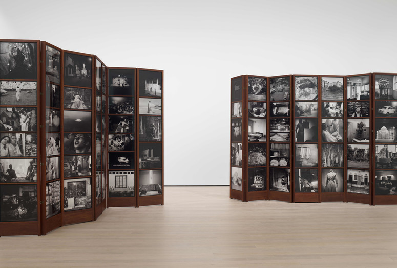 Dayanita Singh. <em>Museum of Chance</em>. 2013. 162 pigmented inkjet prints and teak structures, dimensions variable. Acquired with support from The Contemporary Arts Council of The Museum of Modern Art, The Modern Women's Fund, and Committee on Photography Fund. © 2019 Dayanita Singh. Courtesy of the Frith Street Gallery, London