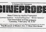 Cineprobe listing in the Village Voice. The Museum of Modern Art Archives, New York: Film C131
