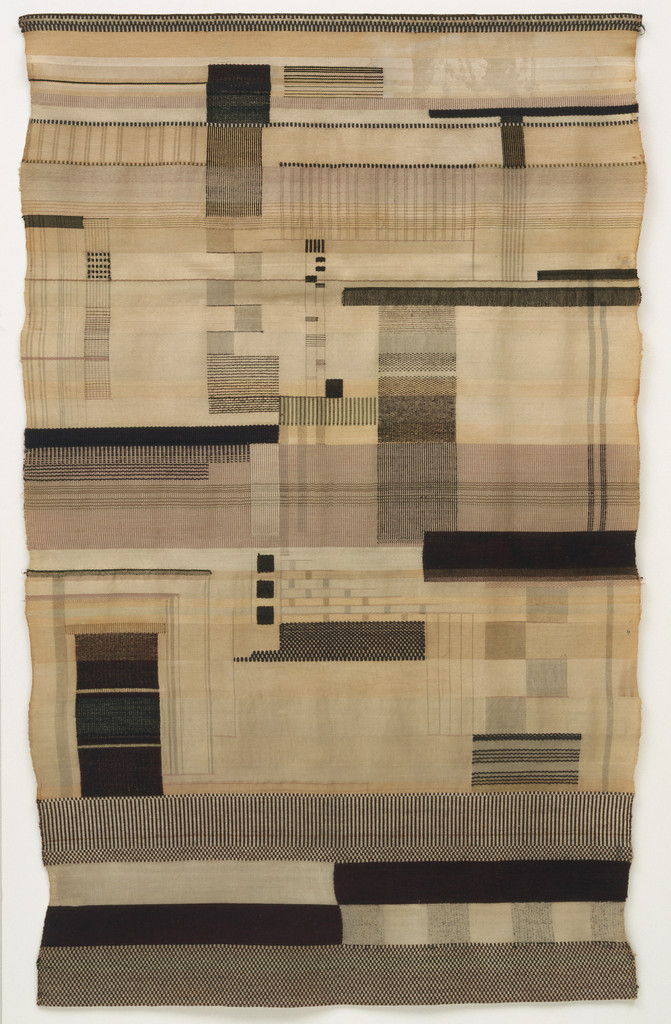 "Gunta Stölzl. Wall Hanging. 1924. Wool, silk, mercerized cotton, and metal thread, 68 1/2 x 42 1/2"" (174 x 108 cm). Phyllis B. Lambert Fund. © 2018 Artists Rights Society (ARS), New York / VG Bild-Kunst, Bonn"