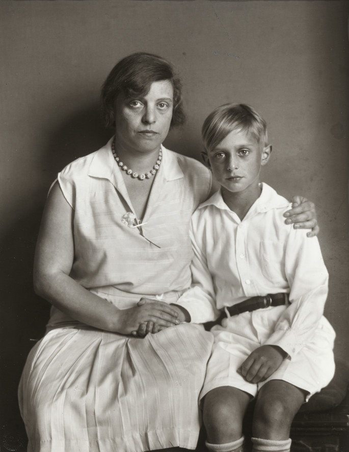 August Sander, Mother and Son [Lou Straus-Ernst with son Jimmy]. 1928