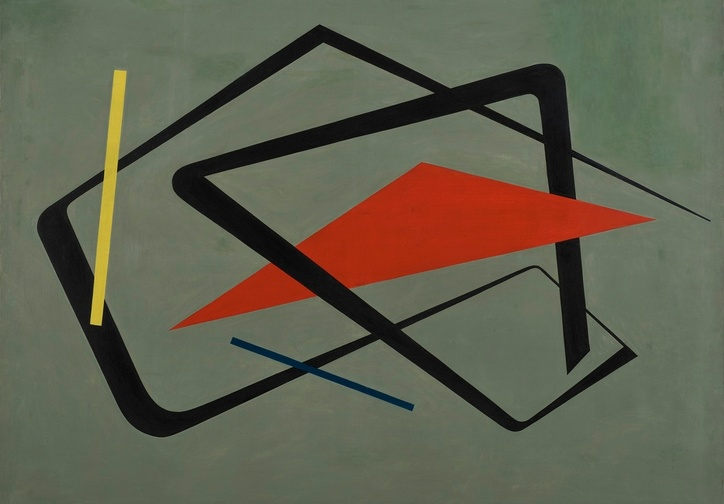 María Freire (Uruguayan, 1917–2015). Untitled. 1954. Oil on canvas, 36 1/4 × 48 1/16″ (92 × 122 cm). The Museum of Modern Art, New York. Gift of Patricia Phelps de Cisneros through the Latin American and Caribbean Fund in honor of Gabriel Pérez‑Barreiro