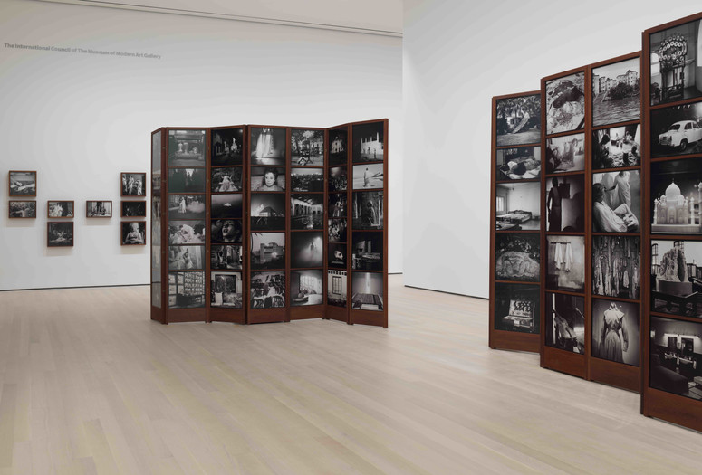 Dayanita Singh. <em>Museum of Chance</em>. 2013. 162 pigmented inkjet prints and teak structures. Acquired with support from The Contemporary Arts Council of The Museum of Modern Art, The Modern Women's Fund, and Committee on Photography Fund. The Museum of Modern Art, New York © 2019 Dayanita Singh. Courtesy of the Frith Street Gallery, London. Photo: John Wronn