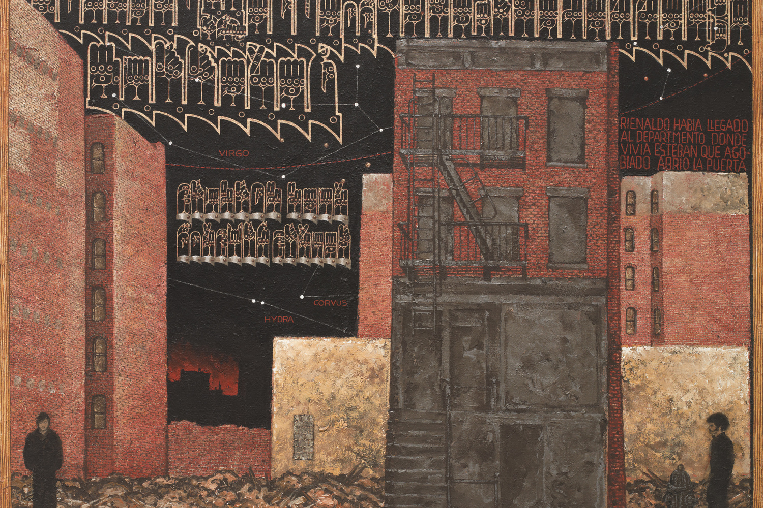 "Martin Wong. Stanton near Forsyth Street. 1983. Acrylic on canvas, 48 × 64"" (121.9 × 162.6 cm). Gift of the Contemporary Arts Council of The Museum of Modern Art; Steven Johnson and Walter Sudol; and James Keith Brown and Eric Diefenbach. Courtesy of the Estate of Martin Wong and P.P.O.W Gallery, New York, NY"