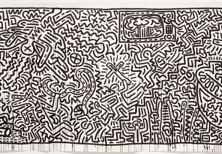 Keith Haring. Untitled (detail). 1982. Ink on two sheets of paper. Gift of the Estate of Keith Haring, Inc. © 2019 The Keith Haring Foundation