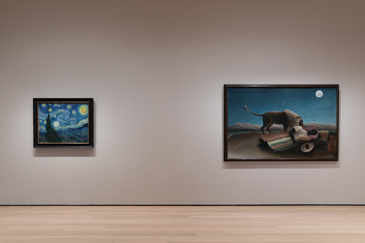 From left: Vincent van Gogh's The Starry Night (1889) and Henri Rousseau's The Sleeping Gypsy (1897)