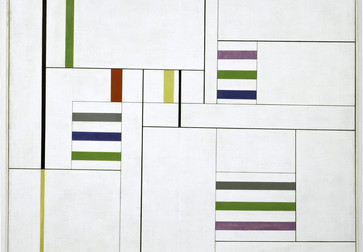 "Alfredo Hlito. Ritmos cromáticos III (Chromatic Rhythms III). 1949. Oil on canvas, 39 3/8 × 39 3/8"" (100 × 100 cm). The Museum of Modern Art, New York. Gift of Patricia Phelps de Cisneros through the Latin American and Caribbean Fund"