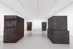 "Richard Serra. Equal. 2015. Forged weatherproof steel, eight blocks, each block 60 × 66 × 72"" (152.4 × 167.6 × 182.9 cm). Gift of Sidney and Harriet Janis (by exchange), Enid A. Haupt Fund, and Gift of William B. Jaffe and Evelyn A. J. Hall (by exchange)"
