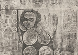 "Betye Saar. Mystic Chart for an Unemployed Sorceress. 1964. Etching and aquatint, 19 3/4 × 15 11/16"" (50.2 × 39.9 cm). The Museum of Modern Art, New York. The Candace King Weir Endowment for Women Artists. © 2019 Betye Saar, courtesy of the artist and Roberts Projects, Los Angeles. Digital Image © 2019 The Museum of Modern Art, New York. Photo: Rob Gerhardt"