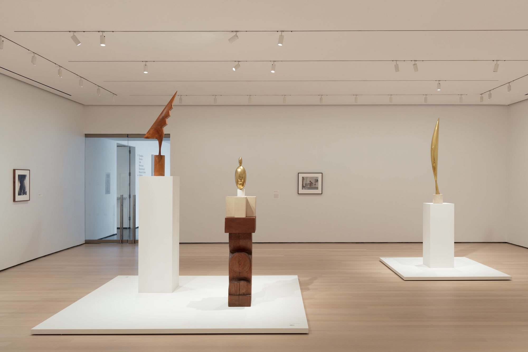 Installation view of the exhibition Constantin Brancusi Sculpture, The Museum of Modern Art, July 22, 2018–June 15, 2019. Photo: Denis Doorly. © 2019 The Museum of Modern Art, New York