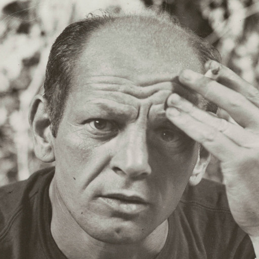 "Hans Namuth. Photograph of Jackson Pollock. 1950. gelatin silver print, 8 1/8 x 9 15/16"" (20.6 x 25.3 cm). Photographic Archive, Artists and Personalities. The Museum of Modern Art Archives, New York. Digital Image © MoMA, N.Y"