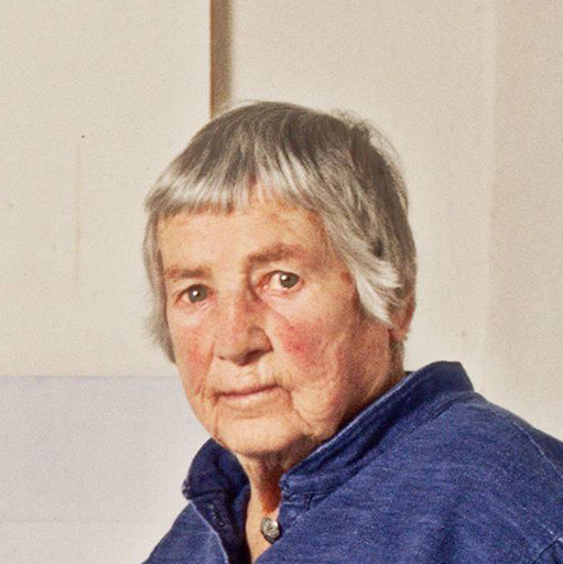 "Michele Mattei. Agnes Martin. photograph, 9 7/16 × 12 15/16"" (24 × 32.8 cm). Photographic Archive, Artists and Personalities. The Museum of Modern Art Archives, New York"