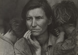 "Dorothea Lange. Migrant Mother, Nipomo, California. March 1936. Gelatin silver print, 11 1/8 x 8 9/16"" (28.3 x 21.8 cm). The Museum of Modern Art, New York. Purchase"