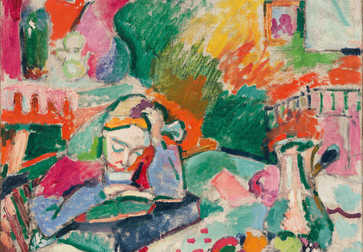 Henri Matisse. Interior with a Young Girl (Girl Reading). Paris 1905–06. Oil on canvas. 28 5/8 x 23 1/2″ (72.7 x 59.7 cm). The Museum of Modern Art, New York. Gift of Mr. and Mrs. David Rockefeller, 1991. Photo by Paige Knight. © 2019 Succession H. Matisse / Artists Rights Society (ARS), New York