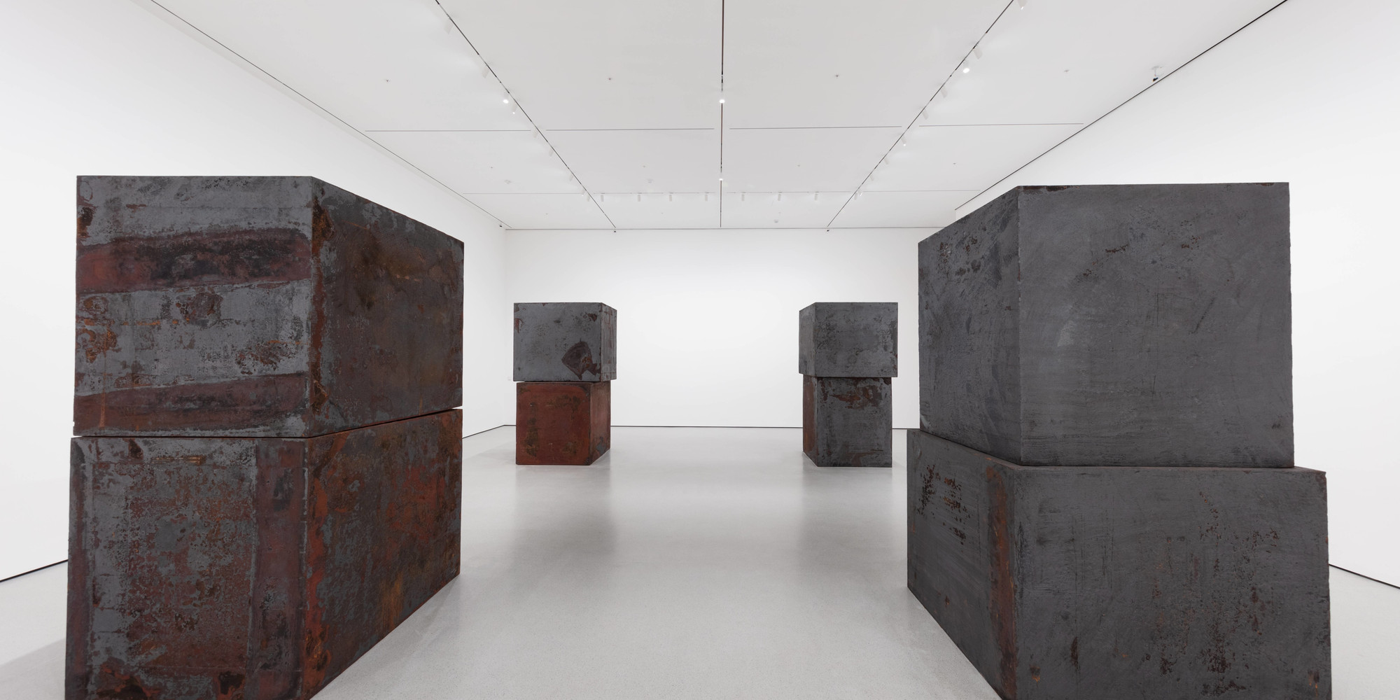 "Richard Serra. Equal. 2015. Forged weatherproof steel, eight blocks, each block 60 × 66 × 72"" (152.4 × 167.6 × 182.9 cm). Gift of Sidney and Harriet Janis (by exchange), Enid A. Haupt Fund, and Gift of William B. Jaffe and Evelyn A. J. Hall (by exchange), The Museum of Modern Art, New York"