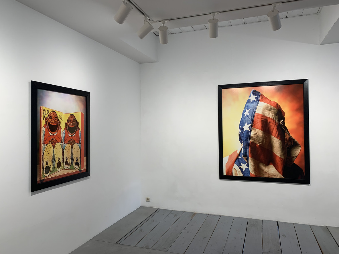 Installation view of Infamous at Galerie Obadia
