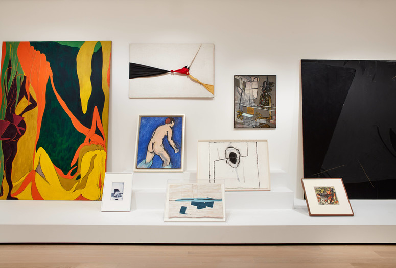 Installation view of the exhibition <em>Artist's Choice: Amy Sillman—The Shape of Shape</em>, The Museum of Modern Art, New York, October 21, 2019–April 20, 2020. Digital Image © 2019 The Museum of Modern Art, New York. Photo: Heidi Bohnenkamp