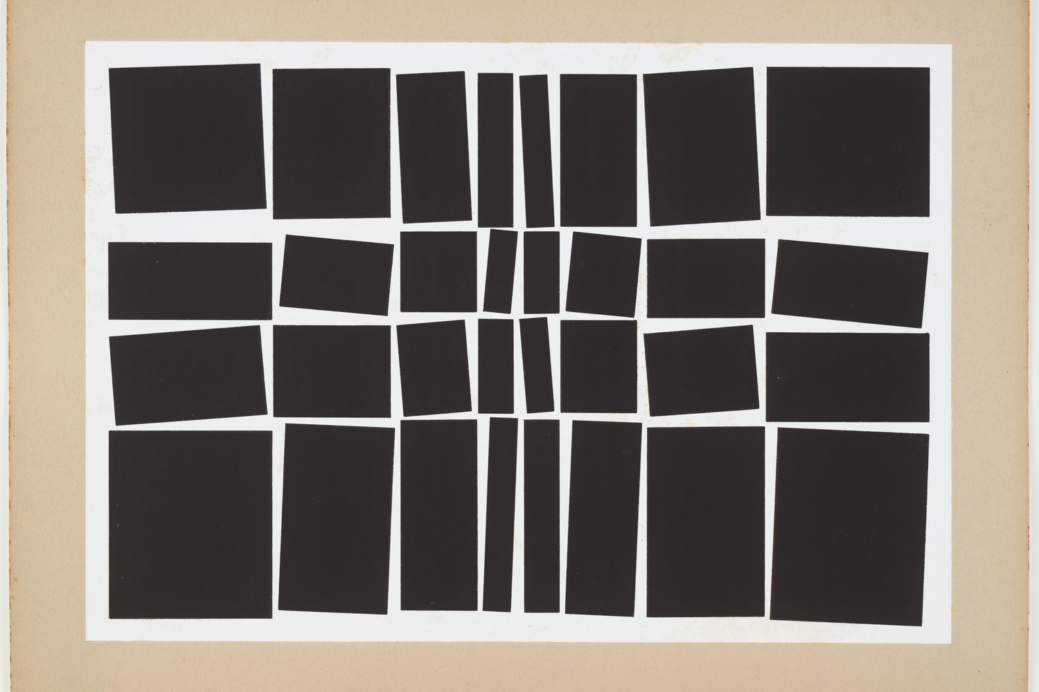 "Hélio Oiticica. Metaesquema No. 348. 1958. Gouache on board, 19 7/8 × 26 3/4"" (50.5 × 68 cm). Purchased with funds given by Patricia Phelps de Cisneros in honor of Paulo Herkenhoff"