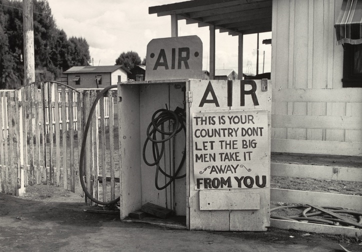 "Dorothea Lange. Kern County, California. November 1938. Gelatin silver print, 9 11/16 × 7 1/2"" (24.6 × 19 cm). Gift of the photographer"