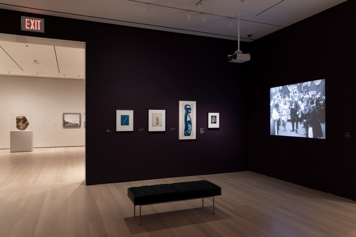 Installation view of Gallery 502, looking into Gallery 501