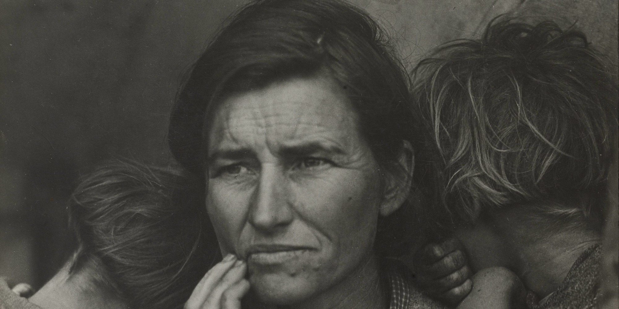 "Dorothea Lange. Migrant Mother, Nipomo, California. March 1936. Gelatin silver print, printed 1949, 11 1/8 × 8 9/16"" (28.3 × 21.8 cm). Purchase"