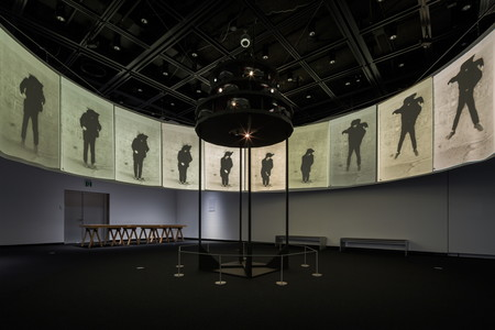 Shuzo Azuchi Gulliver. <em>Cinematic Illumination</em>. 1968–69. Installation view, <em>Japanese Expanded Cinema Revisited</em>, Tokyo Photographic Art Museum, 2017. Courtesy the artist and Tokyo Photographic Art Museum