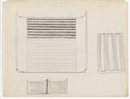 Donald Judd. Drawing for wall pieces (cf. DSS 40). 1963. Pencil on paper. Sheet: 11 × 14 (27.9 × 35.6 cm). Kunstmuseum Basel. © 2020 Judd Foundation / Artists Rights Society (ARS), New York