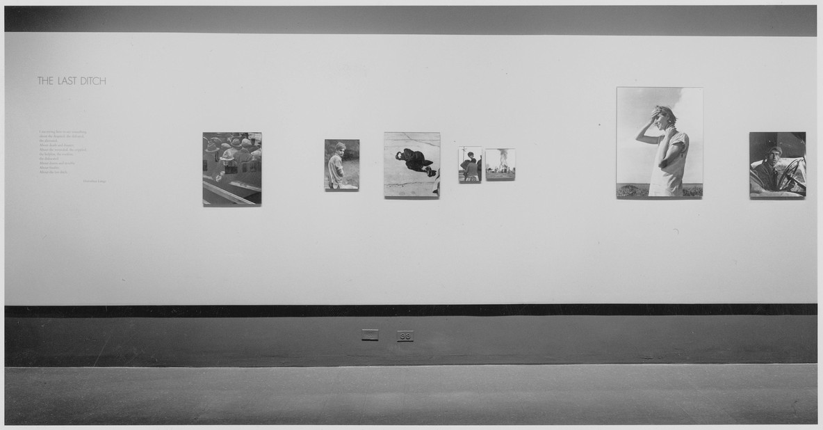 Installation view of Dorothea Lange, The Museum of Modern Art, January 26–April 10, 1966