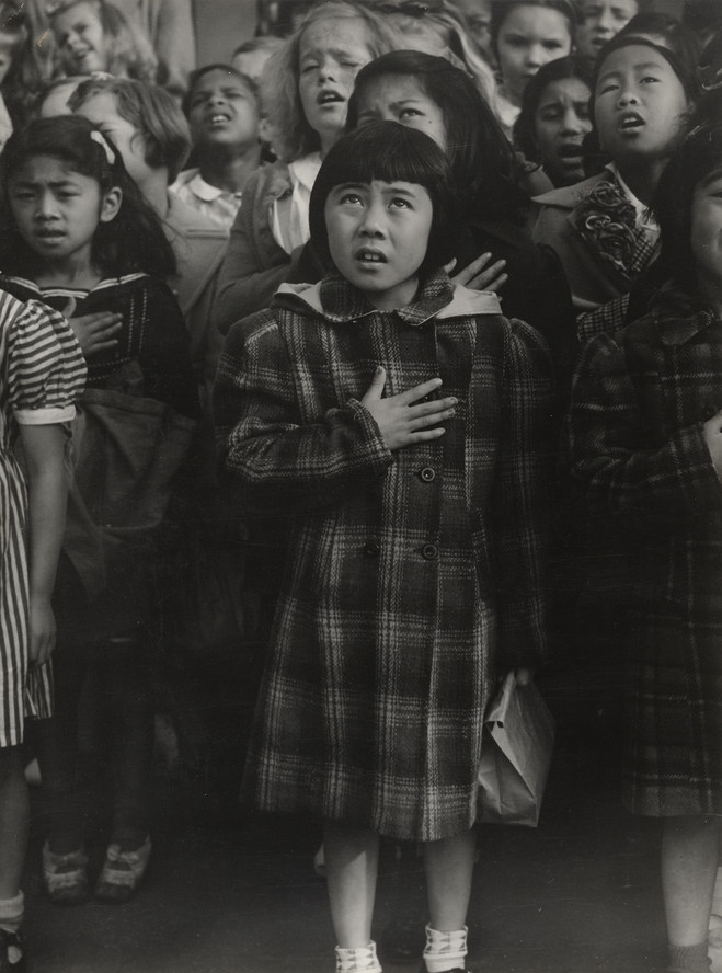 Dorothea Lange. One Nation Indivisible, San Francisco. 1942