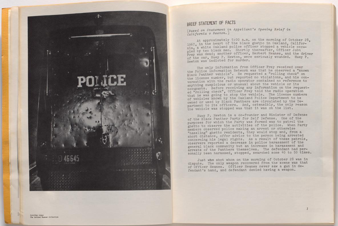 Minimizing Racism in Jury Trials: The Voir Dire Conducted by Charles R. Garry in People of California v. Huey P. Newton, photographs by Dorothea Lange, edited by Ann Fagan Ginger, 1969