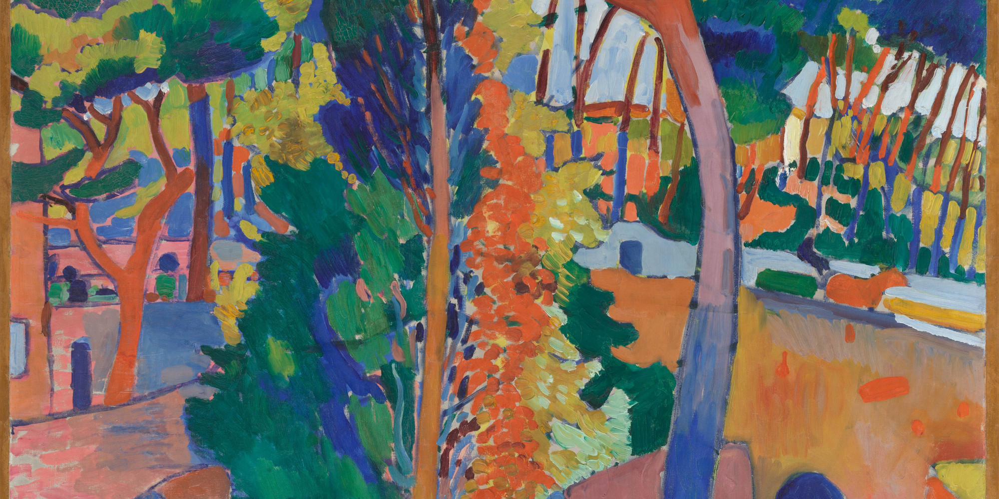 "André Derain. Bridge over the Riou. 1906. Oil on canvas, 32 1/2 × 40"" (82.6 × 101.6 cm). The William S. Paley Collection. © 2020 Artists Rights Society (ARS), New York/ADAGP, Paris"