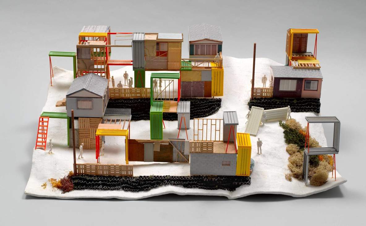 Teddy Cruz. Manufactured Sites: A Housing Urbanism Made of Waste/Maquiladora. Project (model, 2005). 2005–08