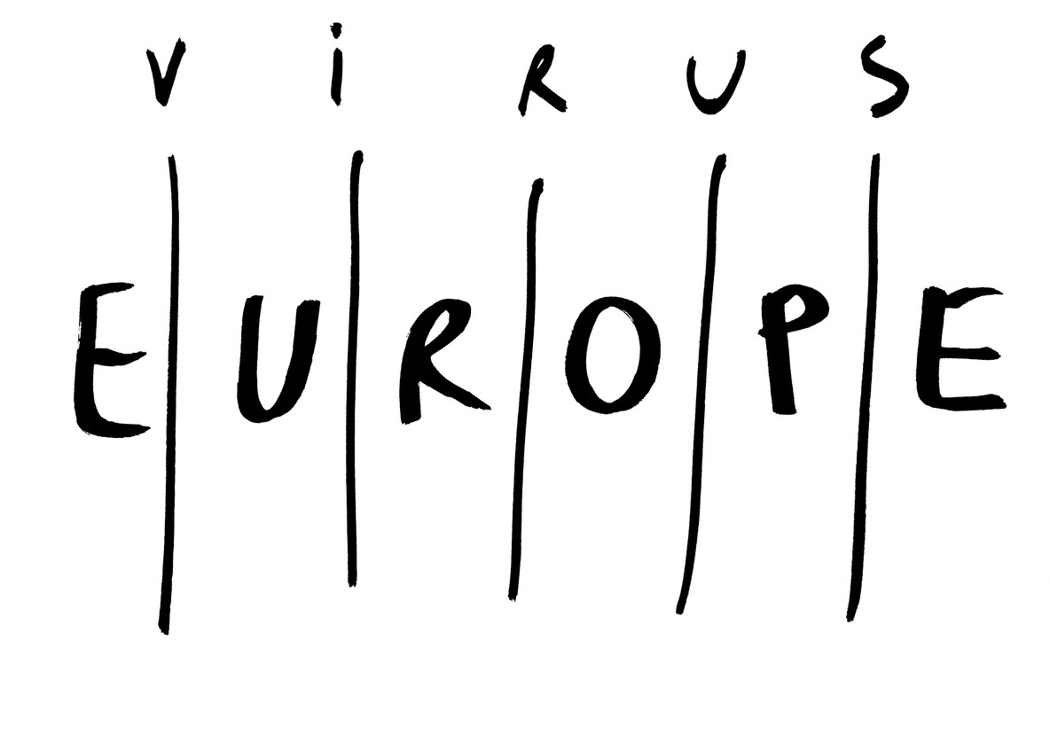 Dan Perjovschi. Europe Walls, from The Time of the Virus. 2020