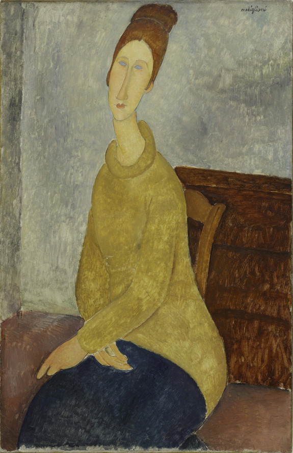 Amedeo Modigliani. Le Sweater jaune (Jeanne Hébuterne with Yellow Sweater). 1918–19