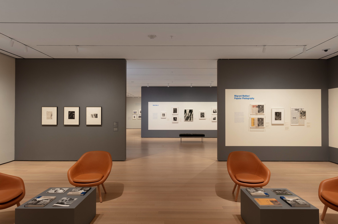 Installation view of the exhibition Dorothea Lange: Words & Pictures. Photo: John Wronn