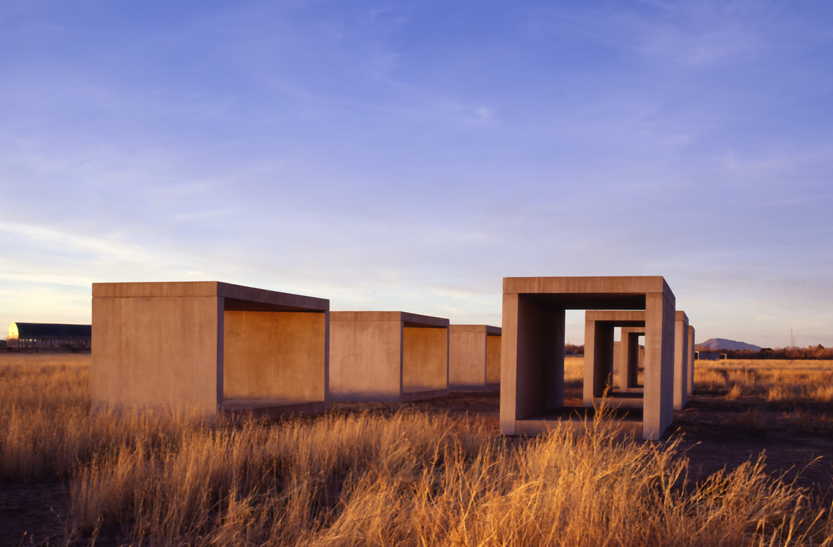 Donald Judd. 15 untitled works in concrete. 1980–84