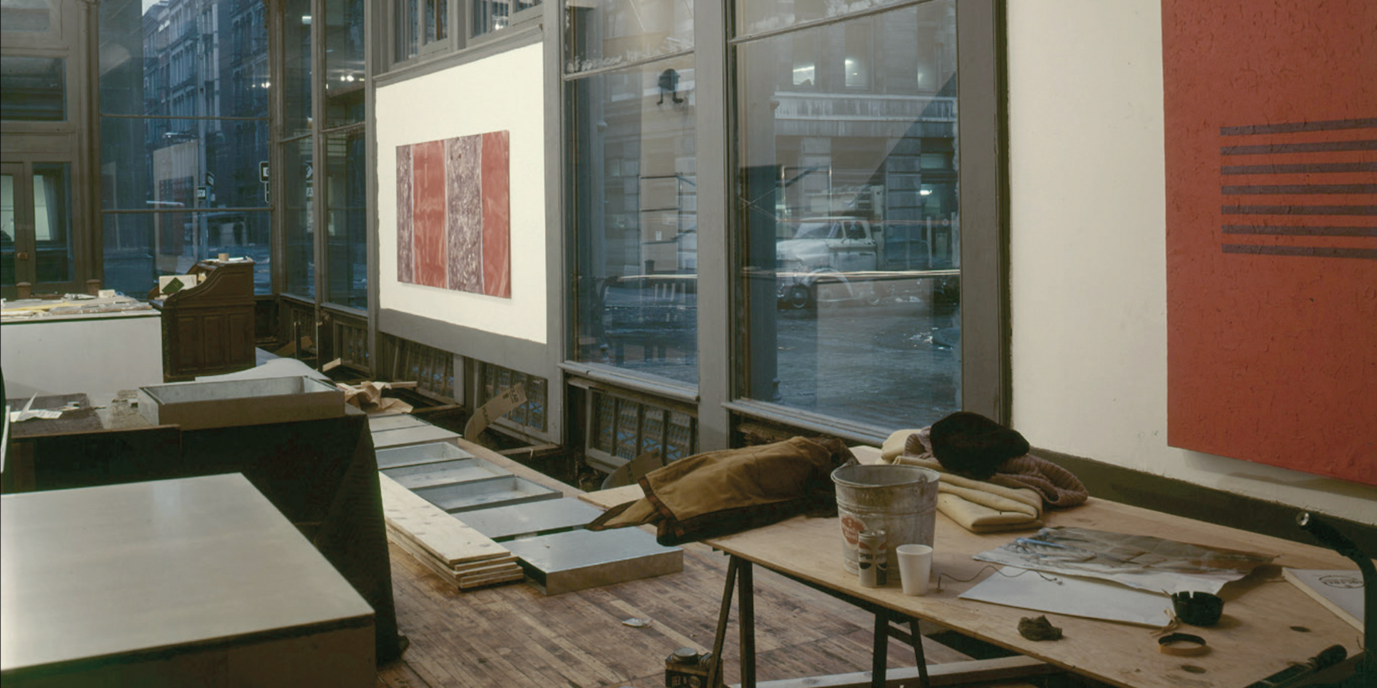 Judd's home and studio building, 101 Spring Street, New York, c. 1969. Photograph by Paul Katz. © 2020 Judd Foundation/Artists Rights Society (ARS), New York