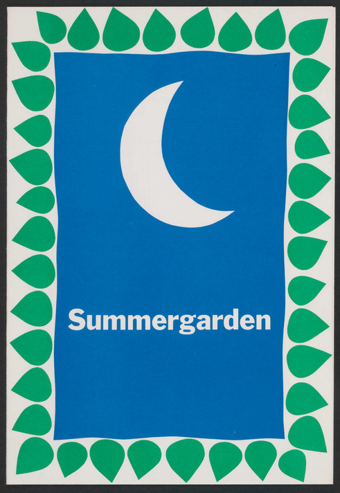 Invitation to the party celebrating Summergarden, May 10, 1971
