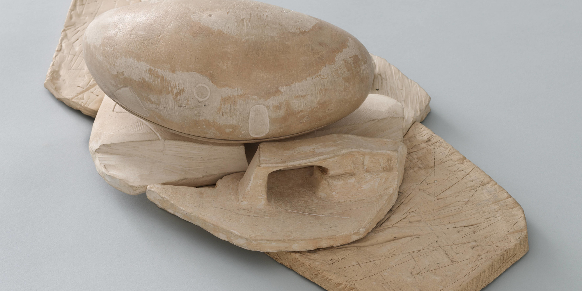 "Frederick Kiesler. Endless House Project. 1950–60. Ceramic, 20 × 11 1/2 × 6"" (50.8 × 29.2 × 15.2 cm). Purchase"