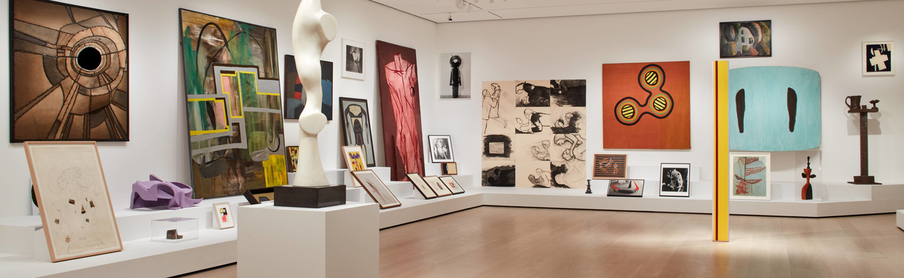 Installation view of <em>Artist's Choice: Amy Sillman—The Shape of Shape</em>, The Museum of Modern Art, New York, October 21, 2019–April 12, 2020. © 2020 The Museum of Modern Art. Photo: Heidi Bohnenkamp