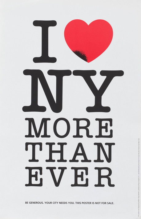 Milton Glaser. I (Heart) NY More Than Ever. 2001