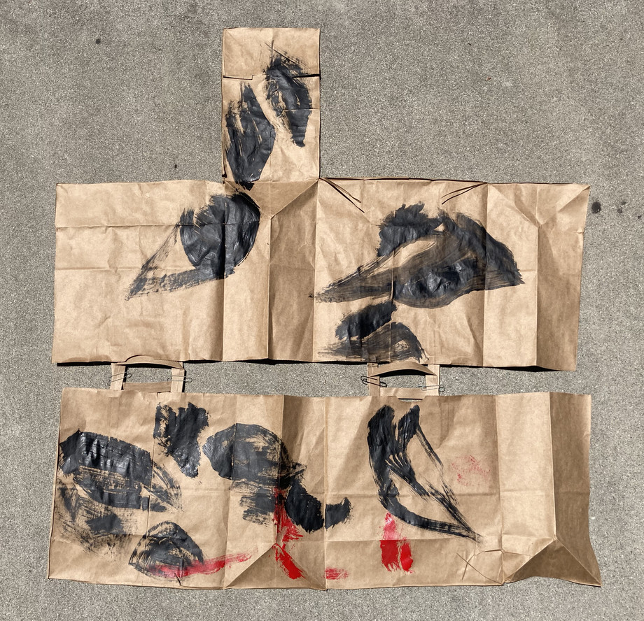 Simone Forti. Fire Bag Drawings. 2020
