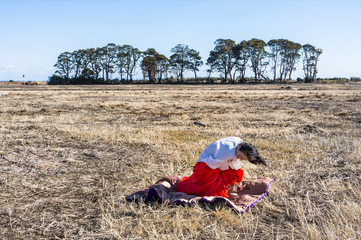 Eiko. A Body in Fukushima, Yaburemachi, January 15, 2014, No. 217. Photo: William Johnston. Courtesy the artist