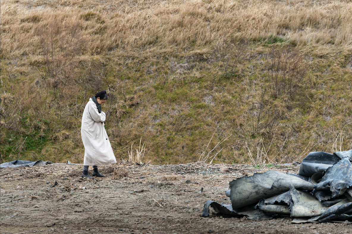 Eiko. A Body in Fukushima, Maebara, December 22, 2019, No. 38. Photo: William Johnston. Courtesy the artist