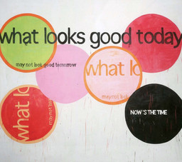 "Michel Majerus. what looks good today may not look good tomorrow. 2000. Acrylic and pencil on canvas, 119 5/16 x 134 1/4"" (303.1 x 341 cm). Gift of Mr. and Mrs. Werner E. Josten (by exchange)"